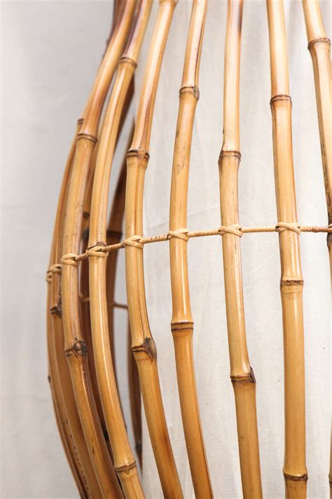 Bamboo Light Fixtures Bamboo Hanging Or Standing Light Fixture At 1stdibs