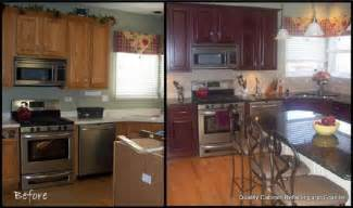 how to reface kitchen cabinets before and after pictures
