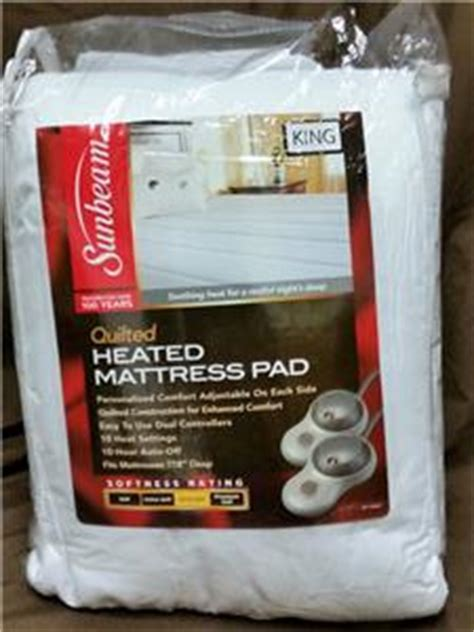 Sunbeam Quilted Heated Mattress Pad King by Sunbeam Quilted Heated Mattress Pad King Ultra Soft
