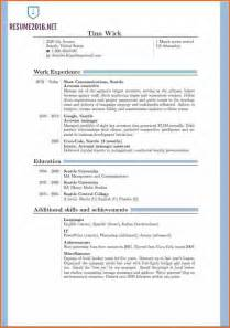 updated resume templates 13 resume format exles 2016 budget template letter