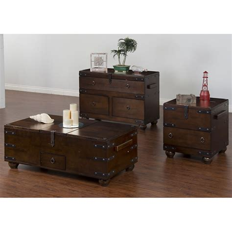Mcgregor Furniture by Santa Fe Cocktail Table Trunk Chocolate Mcgregors
