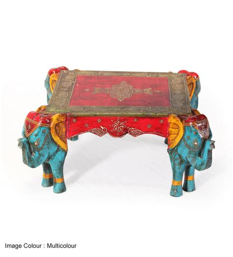 Ethnic Furniture India by Rangilo Rajasthan Square Elephant Coffee Table By