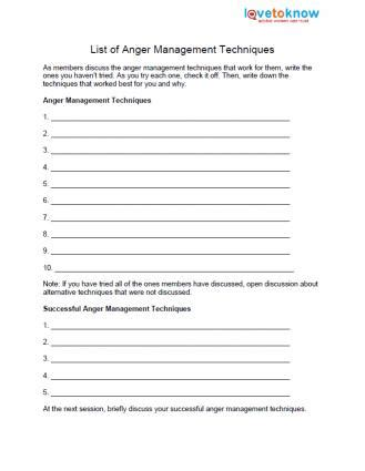 printable anger management activities list of anger management techniques 3 anger management