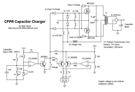 capacitor charging circuit schematic build a coilgun simple electrical design element14 embedded
