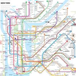 A Map Of New York City by Detailed Nyc Subway Map Bing Images