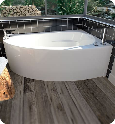tiling side of bathtub neptune 10 15516 5000 10 wi60d 60 quot white corner bathtub with skirt right side drain