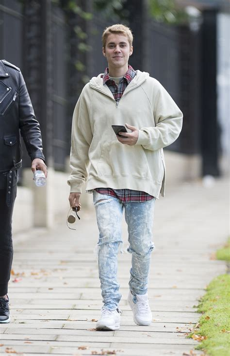 what is justin bieber s style of clothes justin bieber tries out dad style vogue