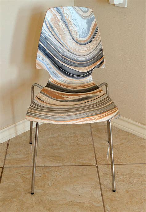 ikea dining chair hack diy marbled ikea vilmar chair a bigger