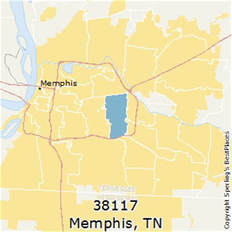 zip code map for memphis tn best places to live in memphis zip 38117 tennessee
