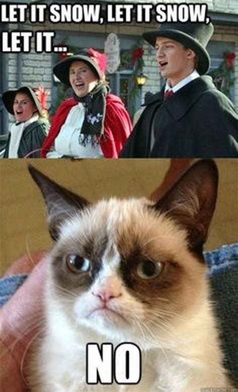 Grumpy Cat Snow Meme - christmas grumpy cat quotes quotesgram