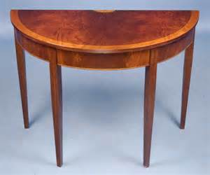 mahogany demi lune table for antiques