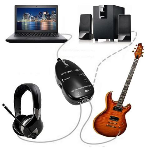 Usb Guitar Cable usb guitar to laptop pc mac interface audio link cable