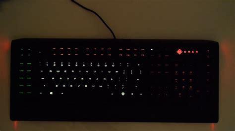 hp omen keyboard lights hp omen keyboard by steelseries light demo youtube