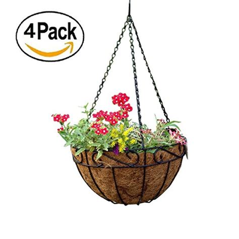 Hanging Planter Basket by 4 Pack Metal Hanging Planter Basket Incl Liner Best Price