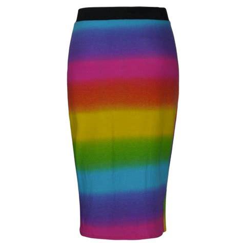 rainbow pencil skirt