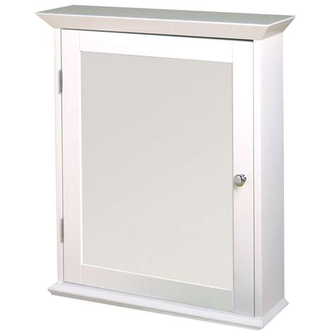 white framed medicine cabinet zenith 22 in w framed surface mount bathroom medicine