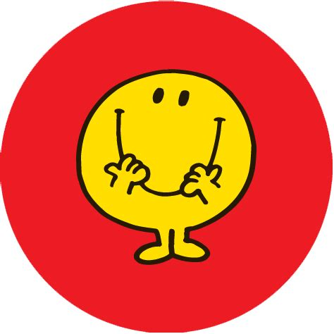 happy stickers mr happy personalised 37mm stickers x 35