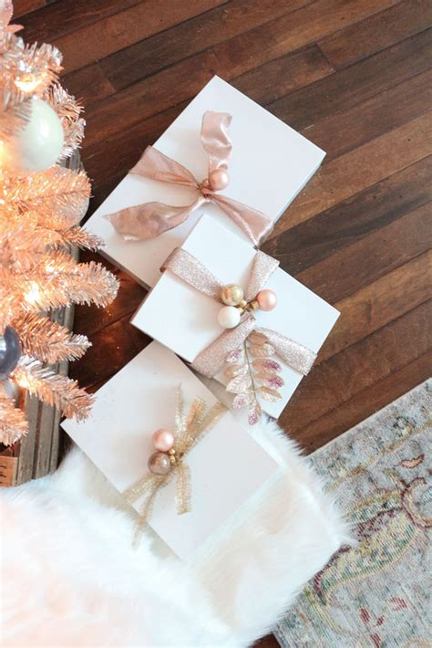 rose gold christmas lights decking the halls with a rose gold christmas tree
