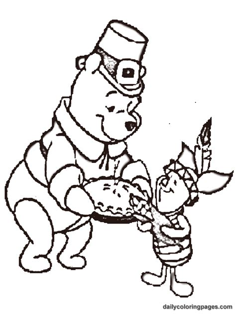 Winnie The Pooh Thanksgiving Coloring Pages winnie the pooh thanksgiving coloring pages 03 coloring