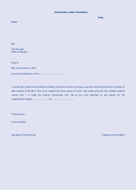 authorization letter sle claiming tor authorization letter sle get tor 28 images sle