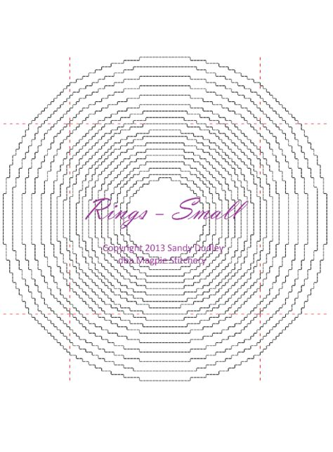 Circle Card Stitch Template by Cross Stitch Circle Border Comb Pattern By Magpie
