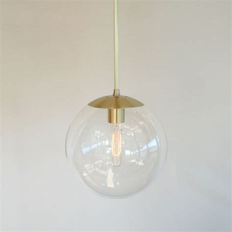 Modern Pendant Lighting Mid Century Modern 10 Globe Pendant Light Clear Glass