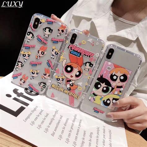 cute powerpuff girls policemen ins phone case cover  iphone xs  max xr      cartoon