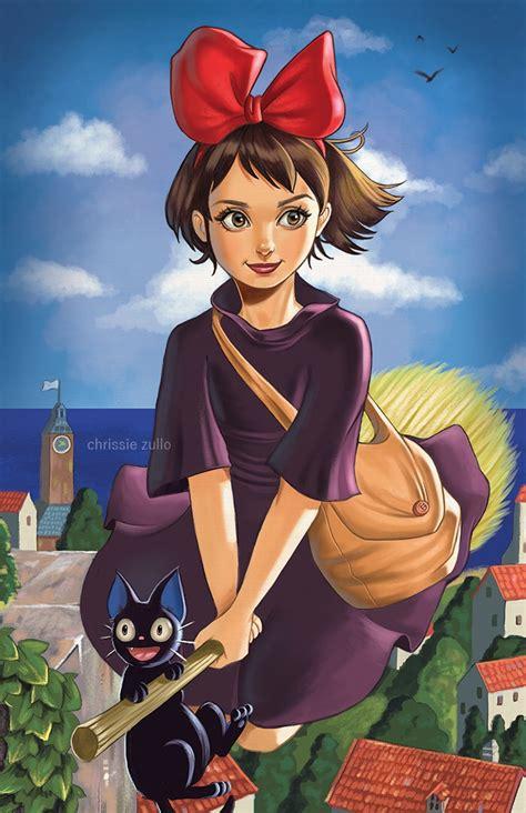 Studio Ghibli Movies kiki and jiji by chrissiezullo on deviantart