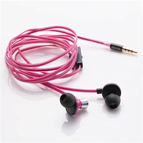 3 5mm Stereo In Ear Headphone Pink ikross in ear 3 5mm noise isolation stereo earbuds with