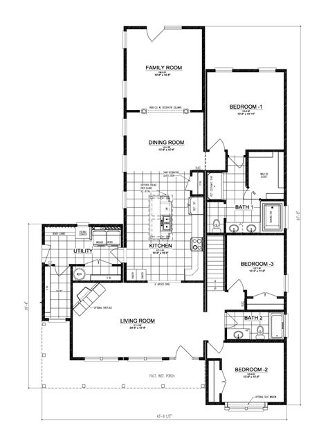 home blueprints the buckeye ii manufactured home floor plan or modular floor plans