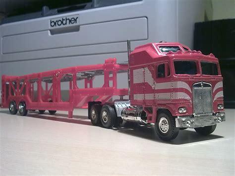kenworth aerodyne truck kenworth k100 aerodyne car transporter model trucks