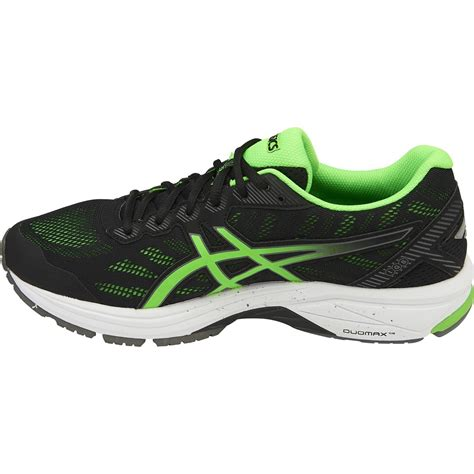 Asics Original Gt 1000 5 Black Green Gecko asics gt 1000 5 2e mens running shoes black green gecko carbon sportitude