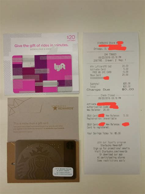 Do You Get Starbucks Stars For Buying Gift Cards - buy 20 lyft gift card get 5 starbucks gift card buy at starbucks 25 bonus