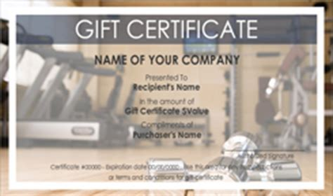personal training gift certificate templates easy to use