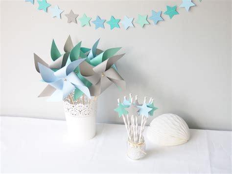 Etoile Decoration by Kit D 233 Coration 233 Toil 233 Bleu Ciel Gris Et Vert D Eau Pour