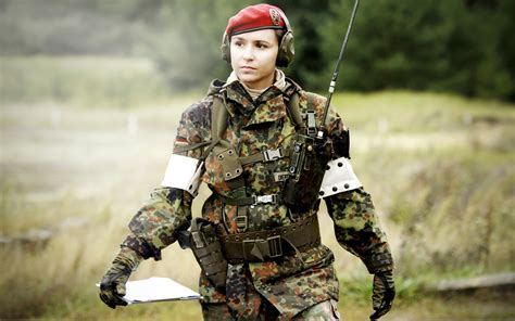 wallpaper girl military army girl with equipment high definition wallpaper hd