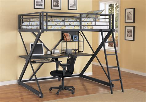 loft bed with desk and futon chair bunk bed with desk for your kids homesfeed