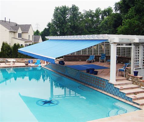 Swimming Pool Awnings by Retractable Awning Retractable Awning Pool