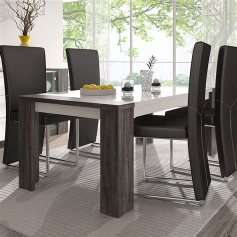 Table Salle A Manger Gris by Table Blanche Et Grise