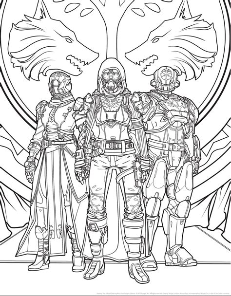 the witcher coloring book ahead of destiny 2 s release an official destiny coloring