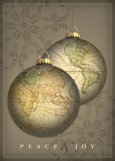 golden globe ornaments business holiday cards from