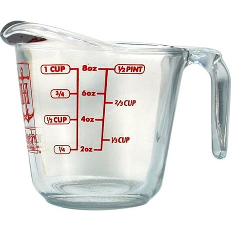anchor hocking 1 cup decorated glass measuring cup walmart com