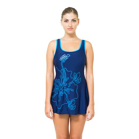 one swimdress modest swimsuit skirted
