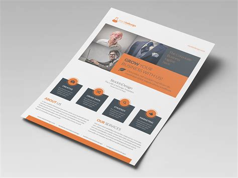 design flyer indesign corporate flyer template stockindesign