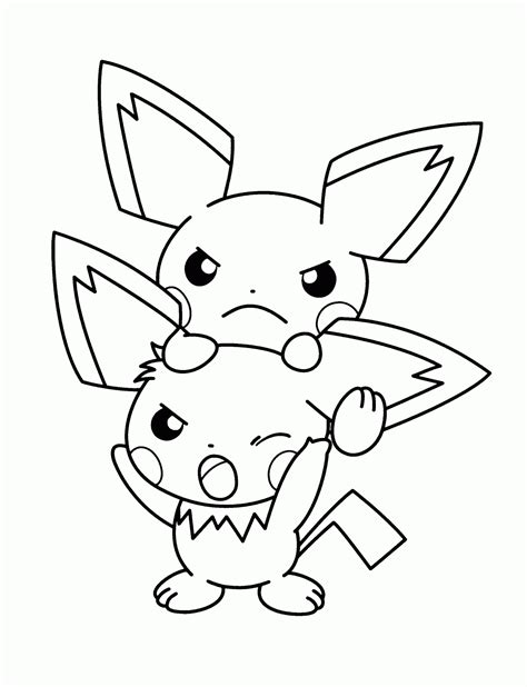 pokemon coloring pages pichu pokemon coloring pages quot pikachu