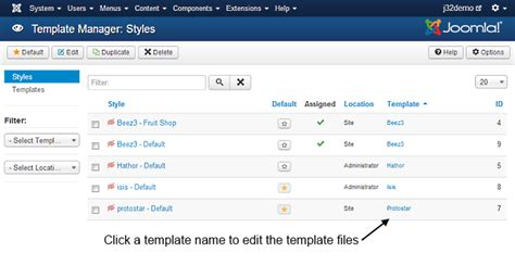 j3 x modifying a joomla template joomla documentation