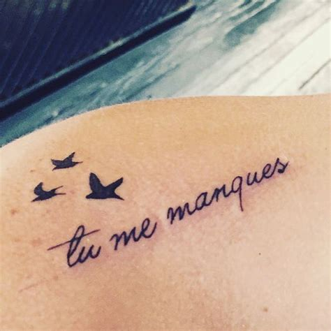 missing you tattoos for my quot tu me manques quot in means