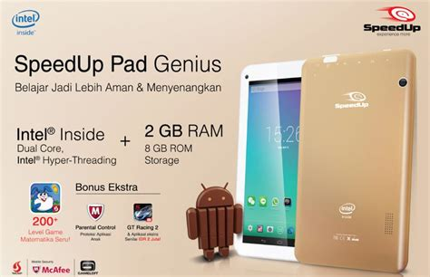 Tablet Speed Up Murah spesifikasi harga speedup pad genius tablet intel atom