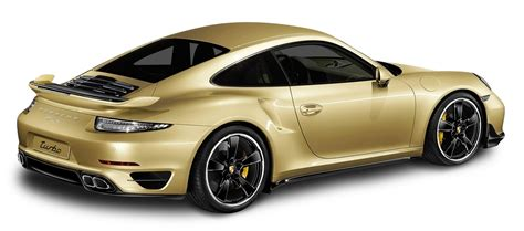 gold cars porsche 911 turbo aerokit gold car png image pngpix
