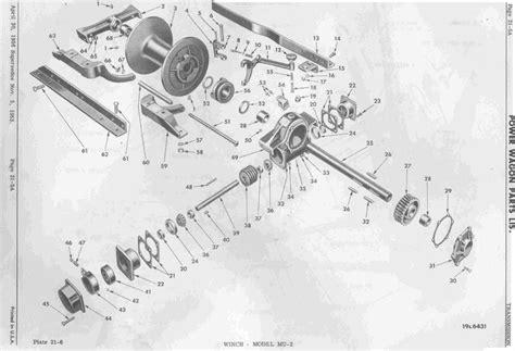 tulsa winch parts diagram mu 2 winch